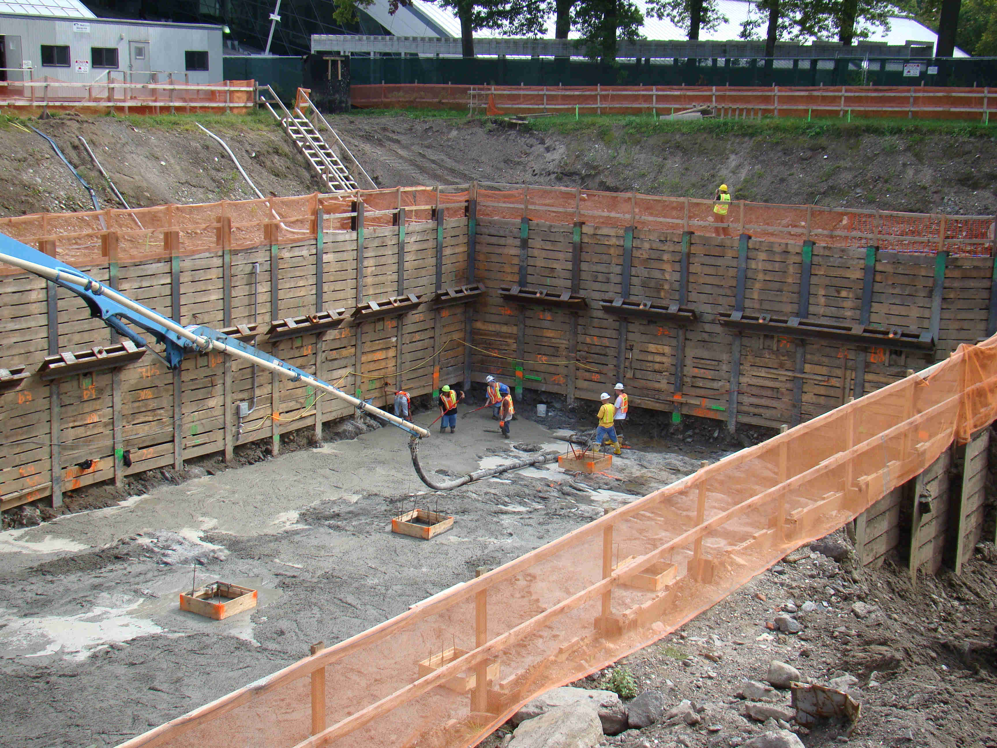 Shoring In Construction : Soil solutions inc sheeting shoring